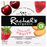 Rachel's luscious fruits cherry & strawberry