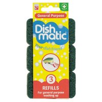 Image of Dishmatic heavy duty refills (pack of 3)