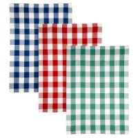 Waitrose Cooking Set of 3 Gingham Tea Towels