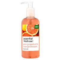 essential Waitrose pink g'fruit & blossm h'wash