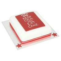 Waitrose Celebration 'keep calm' cake