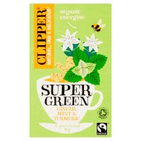 Clipper Fairtrade Super Green Ginger Mint Turmeric 20s