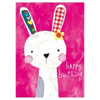 Illustrated Bunny Birthday Card