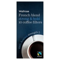 Waitrose French blend coffee filters strength 5
