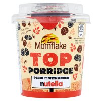 Mornflake top porridge nutella