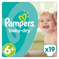 Pampers Baby Dry Sze 6+ Carry 21 Nappies