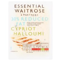essential Waitrose Cypriot light Halloumi cheese, strength 1