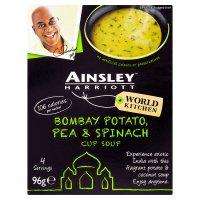 Ainsley Harriott Bombay potato, pea & spinach cup soup 4s