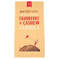 Just Live a Little Cranberry + Cashew Granola