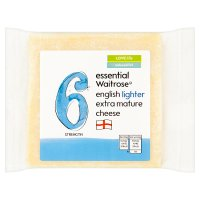 essential Waitrose English lighter extra mature cheese, strength 6
