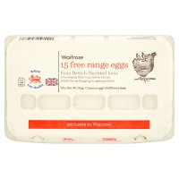 Waitrose British Blacktail mixed weight free range eggs