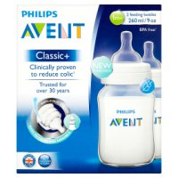 Phillips Avent classic bottles 260ml 1 month plus, 2 pack
