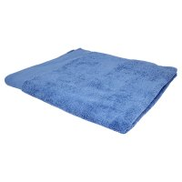 essential Waitrose mid blue bath sheet