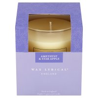 Wax Lyrical amethyst & apple glass candle