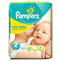 Pampers New Baby Size 2 Carry 32 Nappies