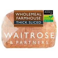 Waitrose LoveLife stoneground wholemeal thick sliced bread