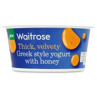 Waitrose Greek style yogurt with honey