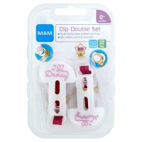 Mam soother clips, pack of 2, assorted