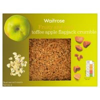 Waitrose toffee apple flapjack crumble
