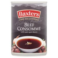 Baxters Chef Selection beef consomme soup