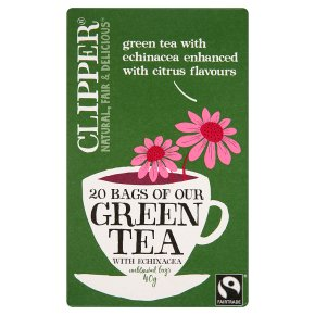 clipper green tea echinacea 20 bags waitrose. Black Bedroom Furniture Sets. Home Design Ideas