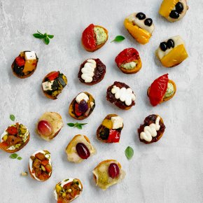 Crostini canap s waitrose for Waitrose canape selection