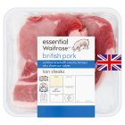 essential Waitrose 2 British Outdoor Bred pork loin steaks - per kg