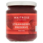 Waitrose strawberry preserve - 340g