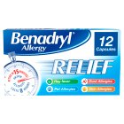 Benadryl allergy relief acrivastine - 12s Brand Price Match - Checked Tesco.com 21/04/2014