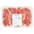 essential Waitrose British pork shoulder steaks - per kg