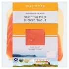 Waitrose oak smoked rainbow trout minimum 4 slices - 100g