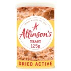 Allinson dried active baking yeast - 125g Brand Price Match - Checked Tesco.com 05/03/2014