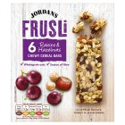 Jordans frusli bars raisin & hazelnut - 6x30g
