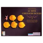 Waitrose 9 mini cheeseburgers - 230g