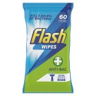 Flash Strong Weave Antibacterial Cleaning Wipes - 60s