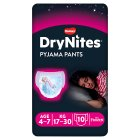 Drynites Pyjama Pants, Girl age 4-7 yrs, 17-30kg - 10s Brand Price Match - Checked Tesco.com 10/03/2014
