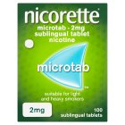 Nicorette microtab, 2mg - 100s Brand Price Match - Checked Tesco.com 14/04/2014