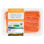 Waitrose 2 boneless Scottish loch trout fillets - 280g