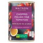 Waitrose tinned chopped tomatoes with olive oil & garlic - 400g