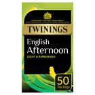 Twinings traditional afternoon 50 tea bags - 125g Brand Price Match - Checked Tesco.com 02/03/2015