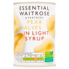 Essential Waitrose Pear Halves (in light syrup) - drained 240g