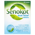 Senokot dual relief tablets - 20s Brand Price Match - Checked Tesco.com 23/07/2014