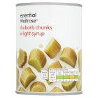 essential Waitrose rhubarb chunks in light syrup - drained 245g