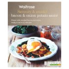 Waitrose bacon & onion potato sauté - 400g