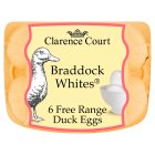 Clarence Court Braddock Whites British free range duck eggs - 6s