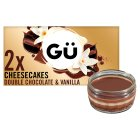 Gu 2 chocolate & vanilla cheesecakes - 2x78g