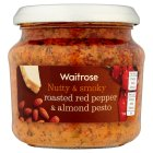 Waitrose roasted pepper & almond pesto - 190g