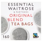 Essential Waitrose Original Blend Tea - 160 Round Bags - 500g