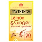 Twinings lemon & ginger 20 tea bags - 30g