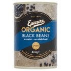 Epicure canned black beans - drained 400g